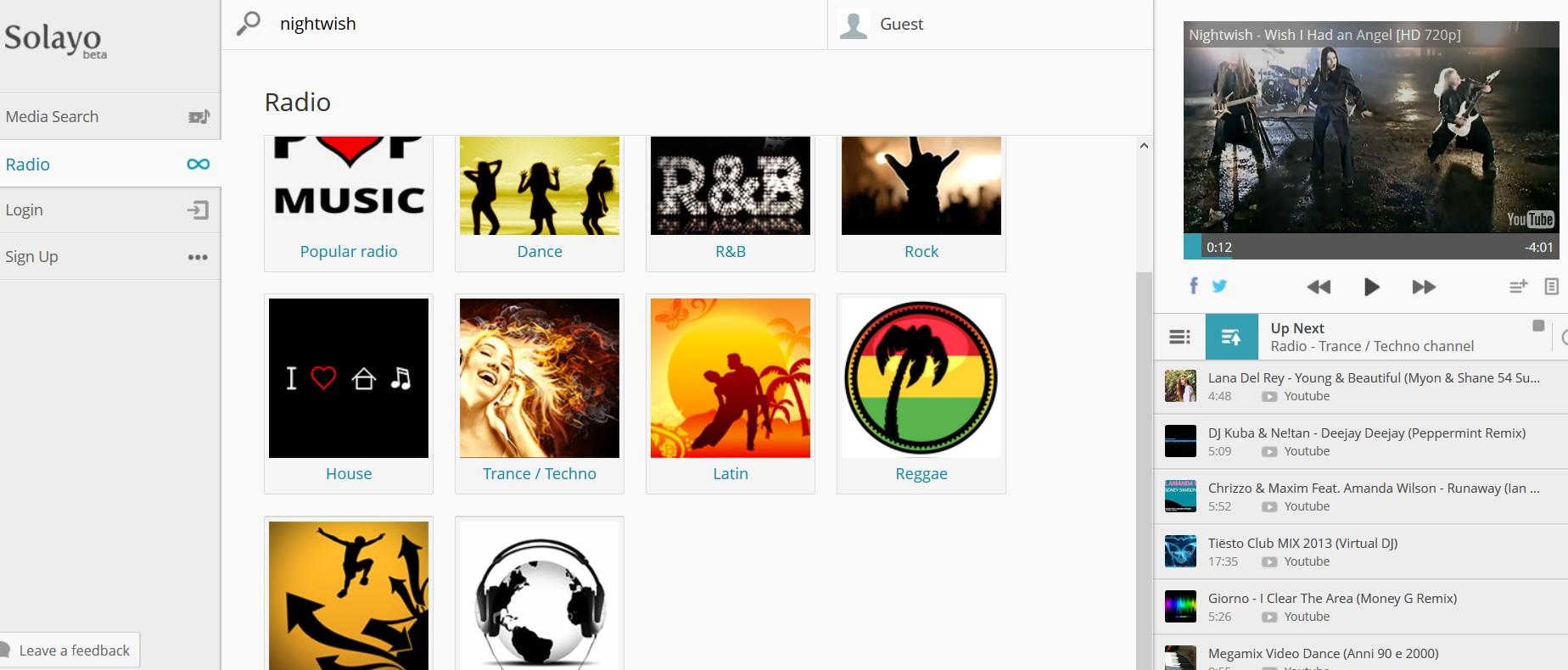 Sitio web gratuito para escuchar música y videos