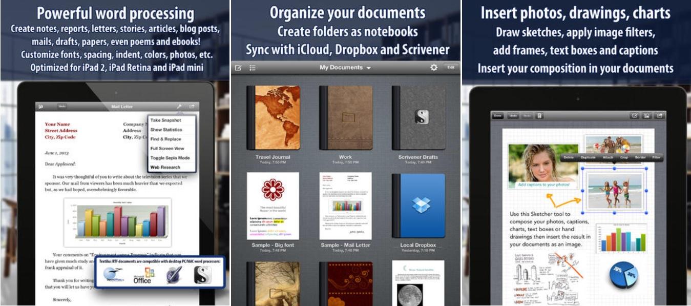 El mejor editor de texto tipo MS Word, gratis para iPad