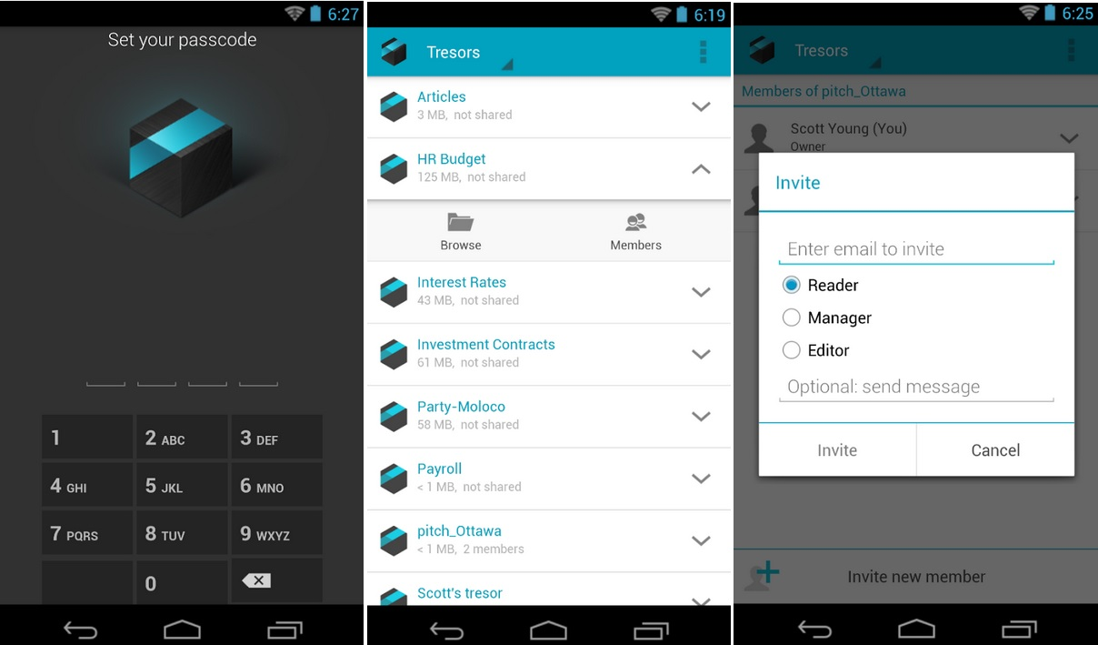 Almacene y comparta información cifrada en la nube, gratis para Android