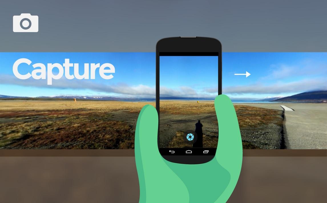 Tome fotos panorámicas de 360 grados, gratis para Android