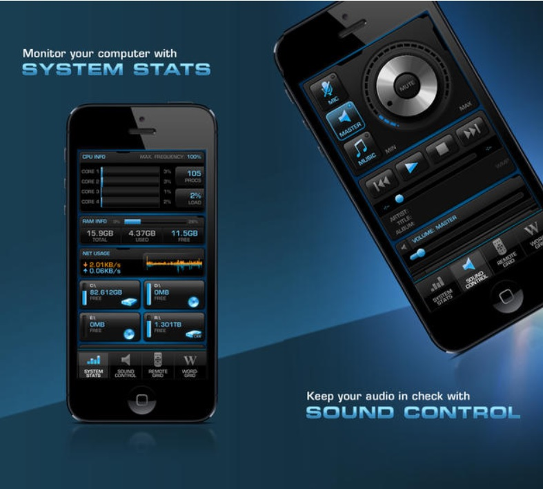 Control remoto de PC y juegos gratis desde iPhone, iPad, iPod y Android
