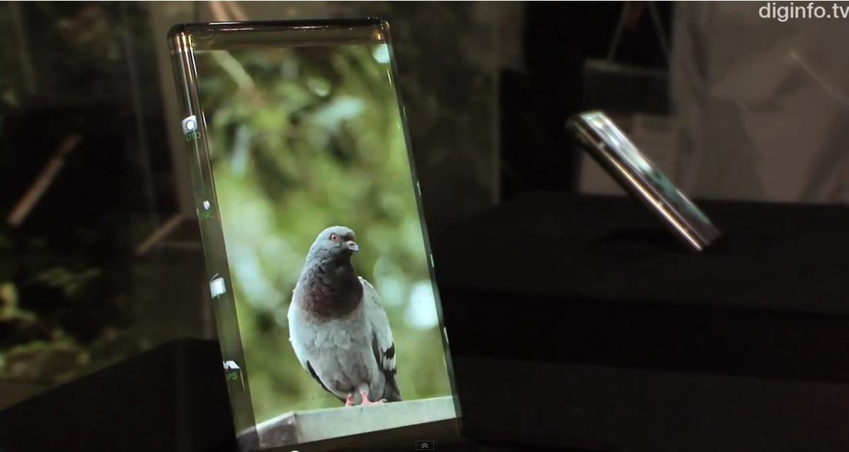 Pantalla flexible de alta resolución que despliega imágenes sobre sus bordes