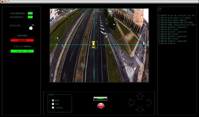 Sistema que automáticamente reconoce y rastrea vehículos desde el aire