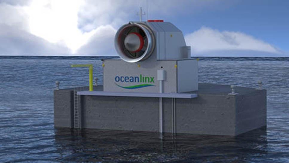 Generador flotante que transforma olas en electricidad