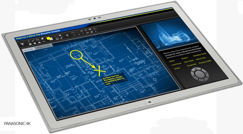 Asombrosa tablet de Panasonic de 20 pulgadas con resolución 4K