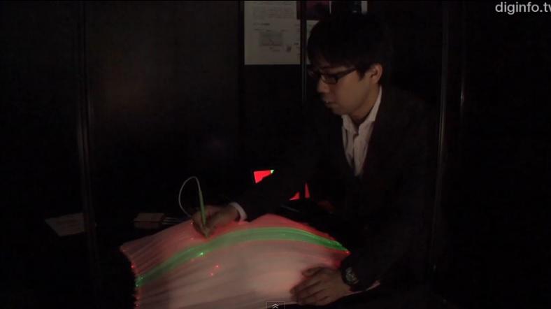 Crean tela interactiva tejida con fibra óptica