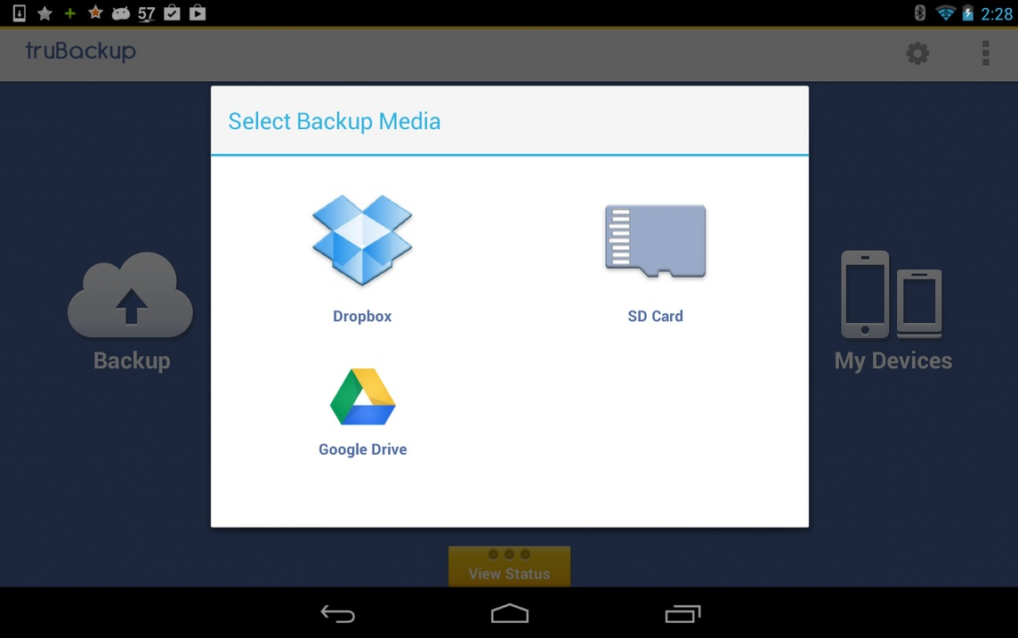 Realice backup gratis de su dispositivo Android a SD, Dropbox o Google Drive