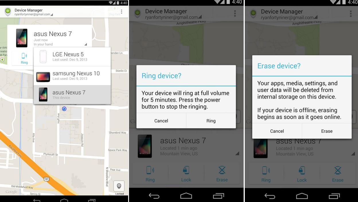 Utilidad de Google para encontrar su equipo perdido, gratis para Android