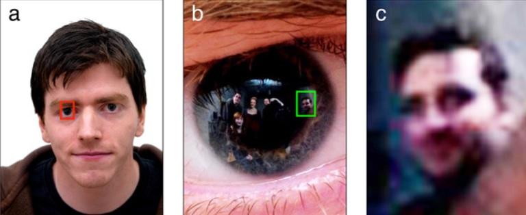 Imágenes obtenidas de reflexiones en los ojos podrían ayudar a identificar criminales