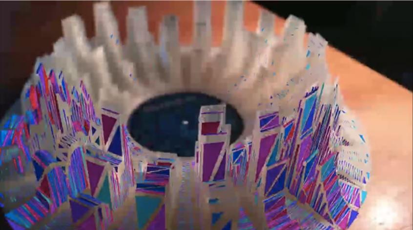 Música que se convierte en una escultura de realidad aumentada, impresa en 3D