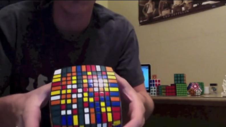 Vea resolver un cubo de Rubik de 11x11x11