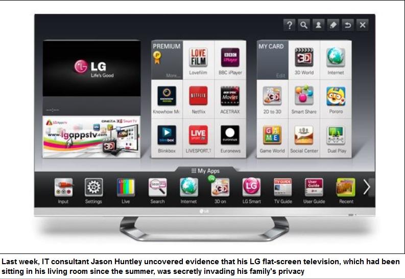 TVs inteligentes LG al parecer espían a sus dueños