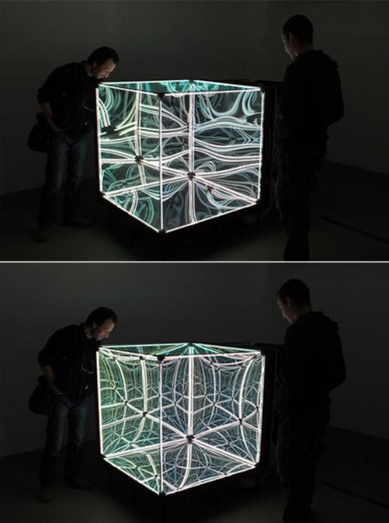 Este cubo de espejos juega con sus ojos