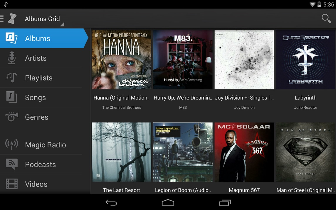 Reproductor musical, podcast, video, todo en uno, gratis para Android