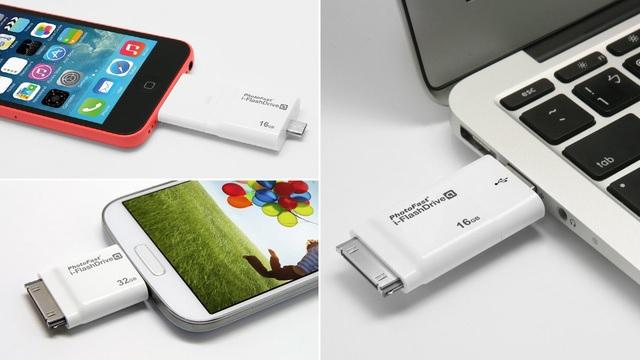 Dispositivo de almacenamiento de dos vías entre iOS y Mac/PC