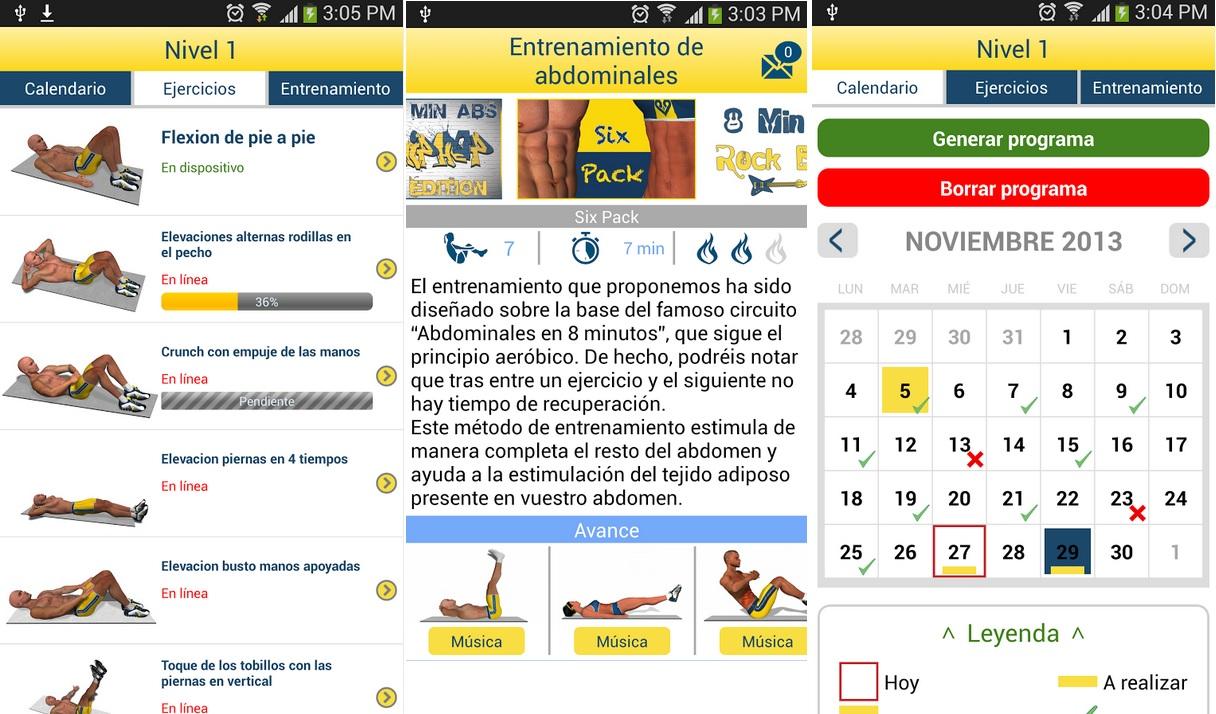 Mejore su abdomen con rutinas de 8 minutos, gratis para Android