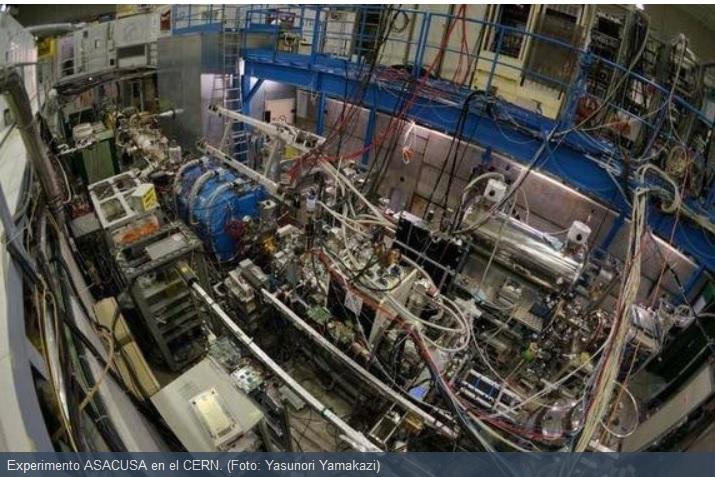 En el CERN producen primer haz antihidrógeno