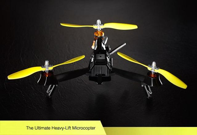 Multicóptero de bolsillo plegable con cámara de alta definición