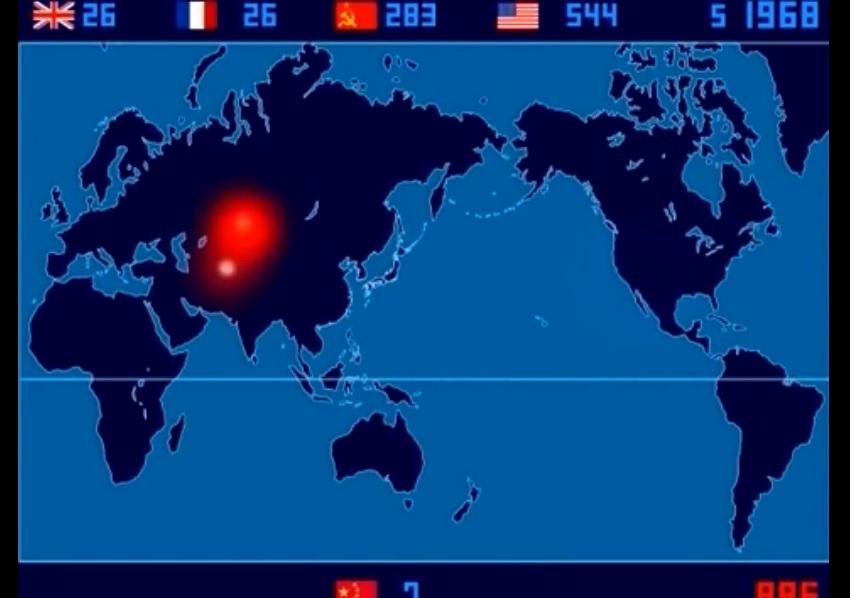 Video muestra cada explosión nuclear desde 1.945