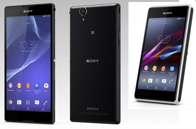 Sony presenta sus nuevos smartphones E1 y T2 Ultra