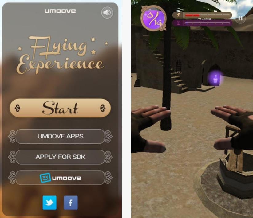 Juego 3D que se controla moviendo la cabeza, gratis para iPhone, iPad, iPod