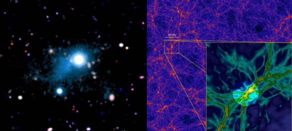 Toman la primera imagen de la red cósmica que une el Universo