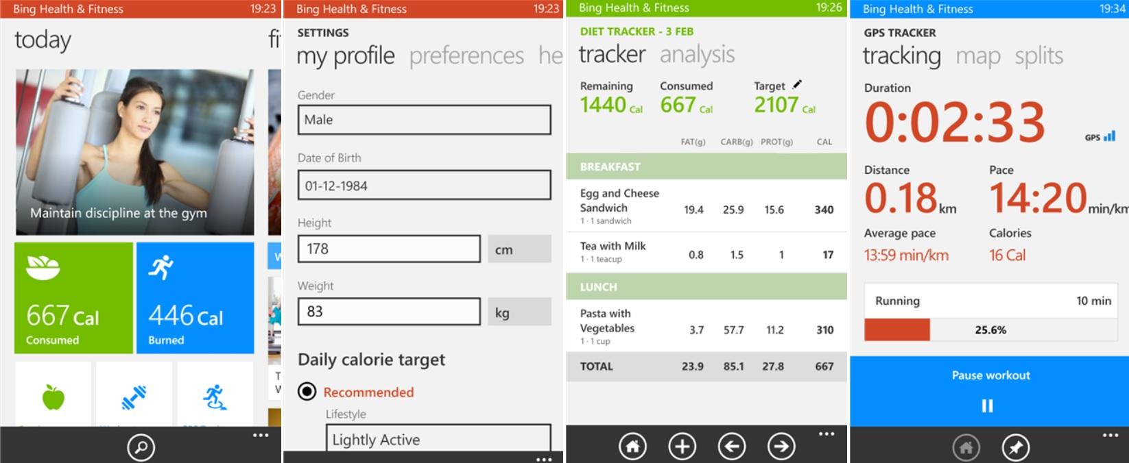 Mantenga su salud y condición física, gratis para Windows Phone