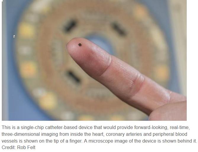 Fabrican chip para ver en 3D desde el interior del corazón