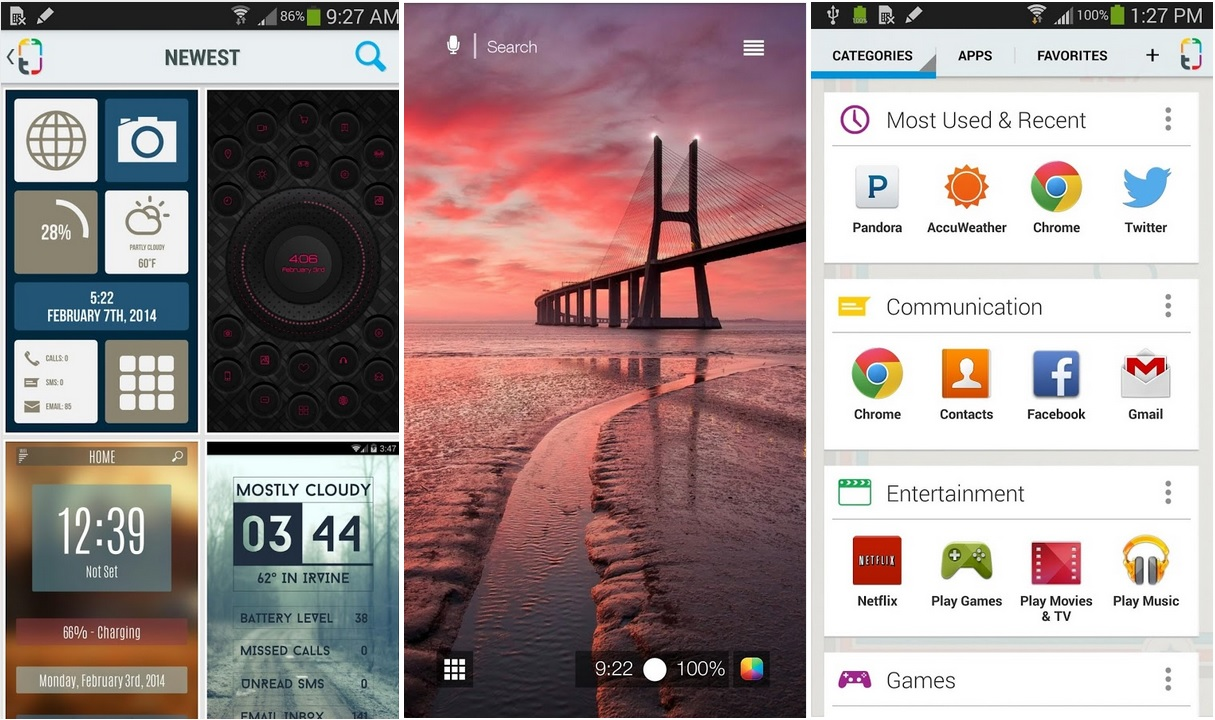 Lanzador de aplicaciones con gran variedad de temas, gratis para Android