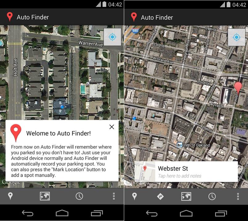 Encuentre su automóvil con esta utilidad de configuración cero, gratis para Android