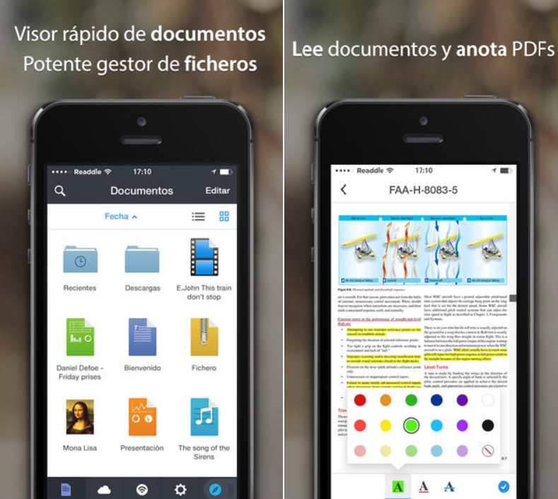 Lea, escuche, descargue y anote, gestor de documentos, gratis para iPhone, iPad, iPod
