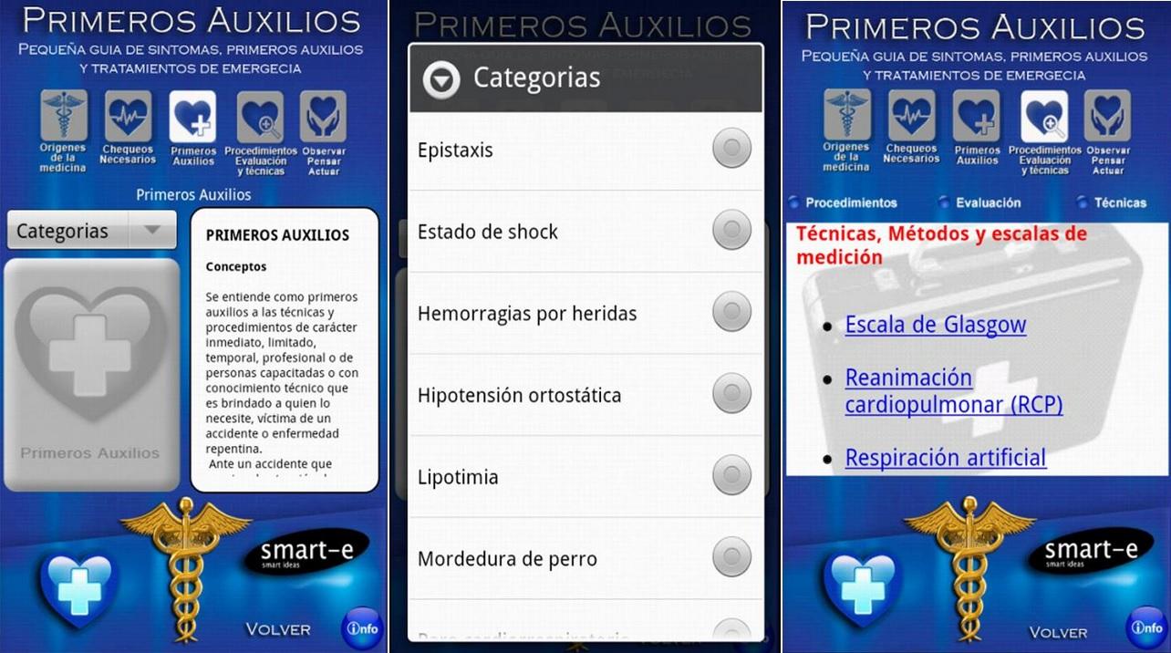 Guía de primeros auxilios, gratis para Android