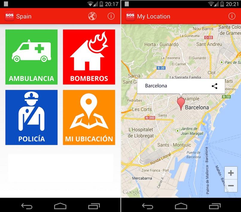 Llame a los números de emergencia del país donde se encuentre, gratis para iPhone, iPad, iPod, Android