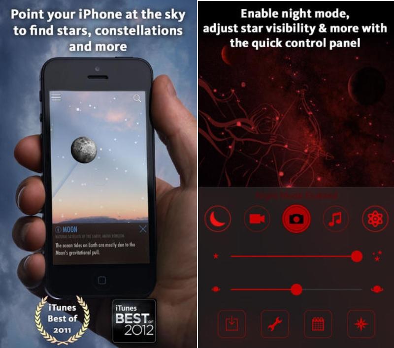 Localice estrellas, constelaciones, galaxias, gratis para iPhone, iPad, iPod