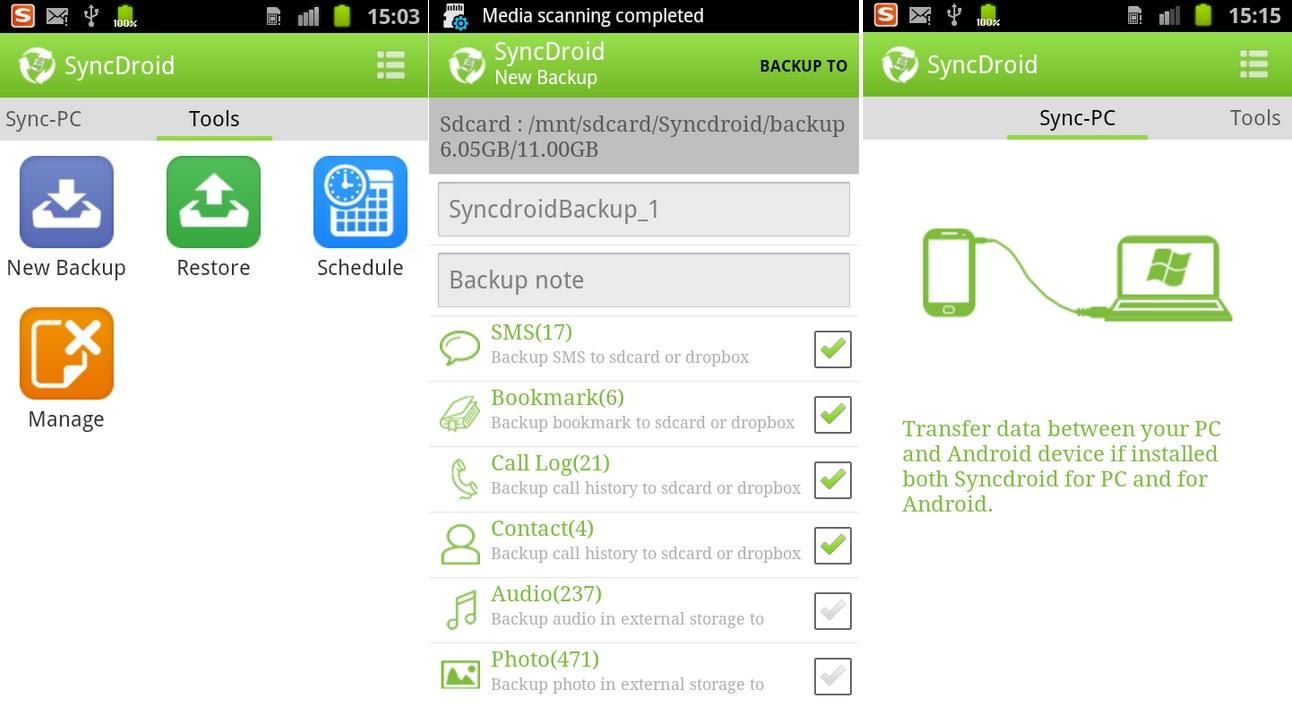 Backups y restauraciones, gratis para Android