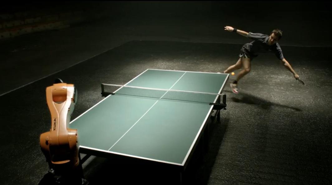 Finalmente, el duelo en ping-pong entre robot y humano