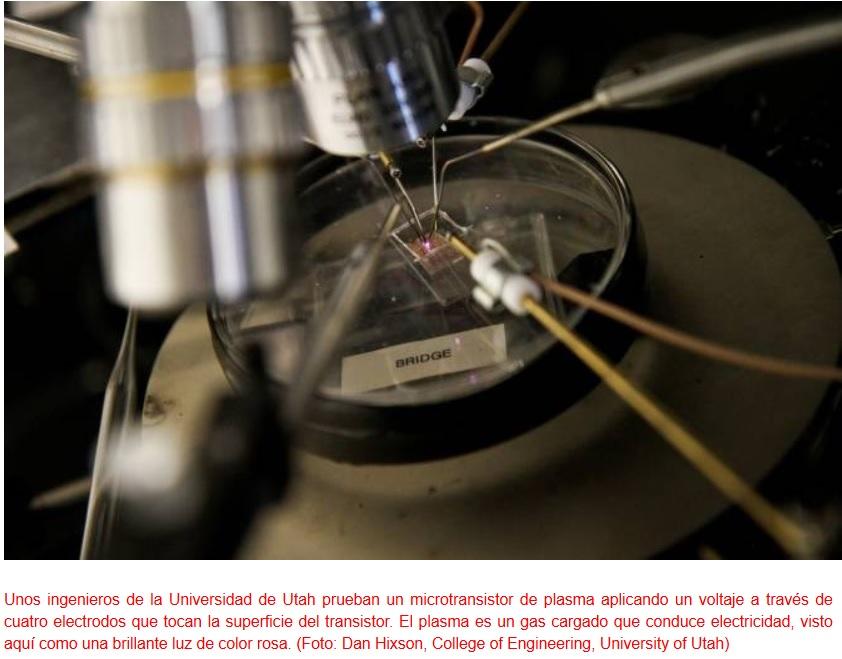 Fabrican transistores de plasma capaces de trabajar en reactores nucleares