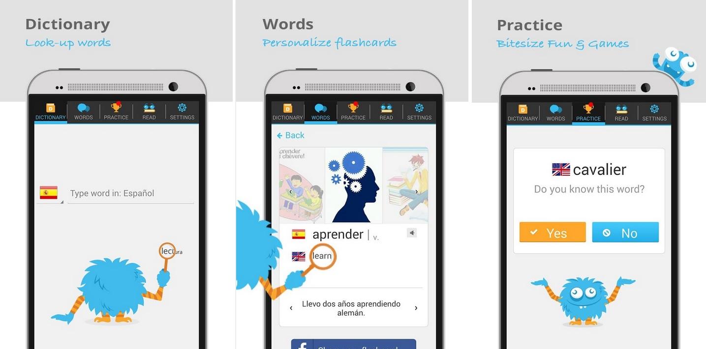 Amplíe su vocabulario para aprender un nuevo idioma, gratis para Android