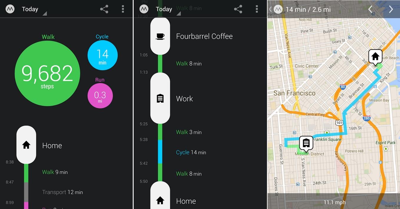 Registro automático de su actividad física, gratis para Android