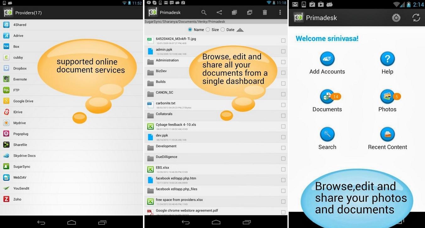Administre y sincronice sus servicios en la nube, gratis para iPhone, iPad, iPod, Android