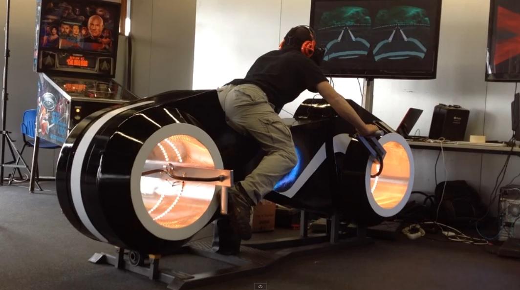 Simulador de motocicleta de Tron
