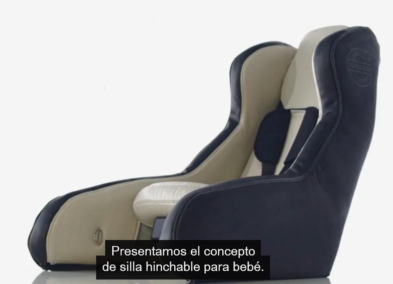 Volvo trabaja en un asiento de seguridad inflable para niños