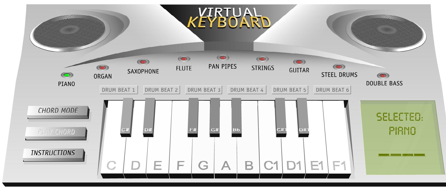 Piano virtual gratuito con variedad de sonidos e instrumentos