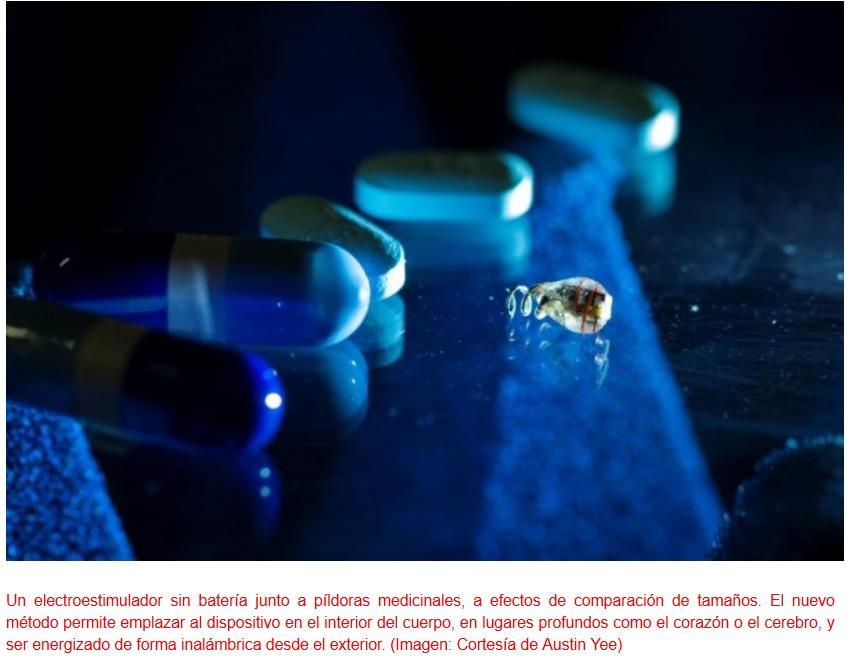 Transmisión inalámbrica de energía dispositivos implantados dentro del cuerpo