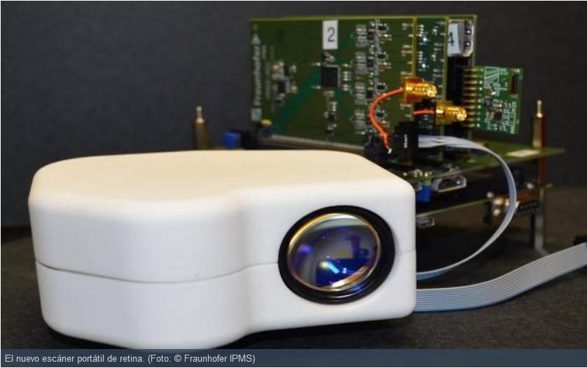 Fabrican escáner portátil de retina para identificación de personas