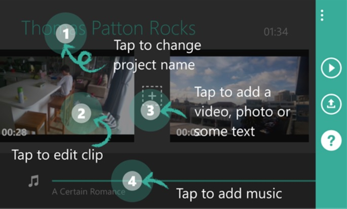 Capture, edite, agregue texto y música a sus videos, gratis para Windows Phone