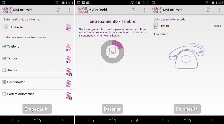 Detección de sonidos para personas con limitación auditiva, gratis para Android