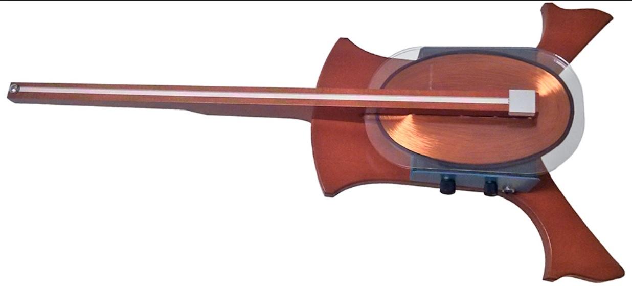 Un violonchelo sin cuerdas y magnético