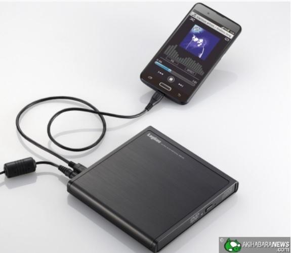 Unidad para copiar canciones de CD directamente a un teléfono