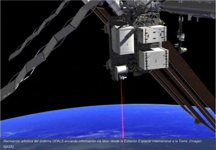 Envían video de alta definición desde la Estación Espacial vía láser